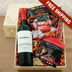 Organic Red Wine & Snax Gift Box